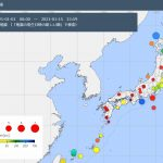 地震対策,20210115までの地震発生日本地図