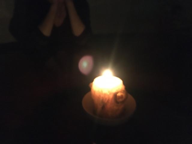 真夜中の地震 停電