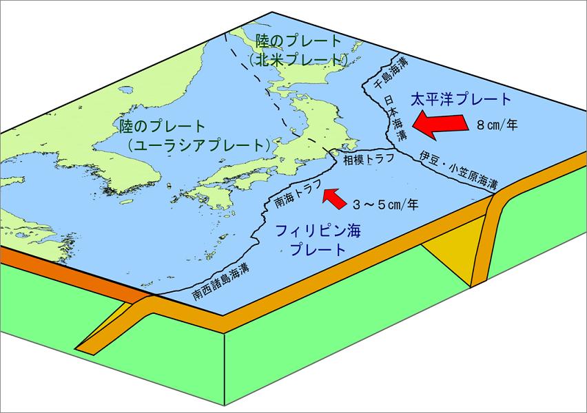 南海トラフ地震溝地図