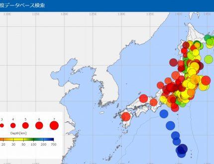 2011-2021震度4以上東日本大地震地図