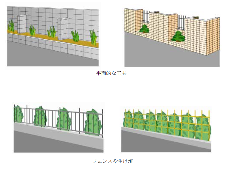 安全なブロック塀の例